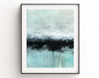 Printable art wall decor instant download art digital print abstract landscape painting black line modern interior design artwork home decor