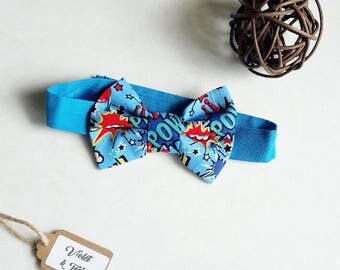 Boys Bow Tie - Baby Bow Tie - Wedding Bow Tie - Cake Smash Bow Tie - Super Hero Bow Tie - Party Bow Tie