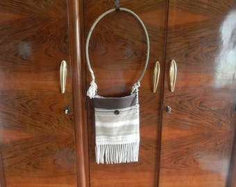 Pendelton Scrap Purse With Rope Handle