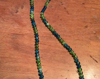Necklace beads in frosted glass