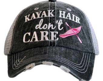 Kayak Hair Don't Care Trucker hat ~ Kayak Hair Don't Care Baseball Hat ~ kayak Hair Don't Care Valentine's Day Gift ~ Kayak Hat
