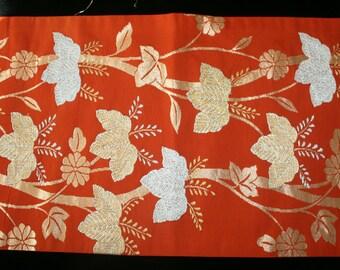 Vintage Japanese Obi Silk Fabric