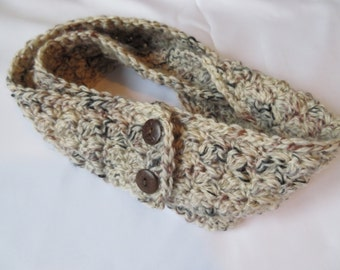 Cream*Crocheted*Baby Scarf