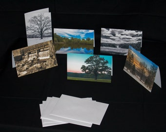 6 beautiful Landscape Greeting cards