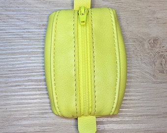 Mini wallet leather yellow