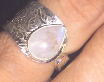 Moonstone and Gemstone Silver Rings