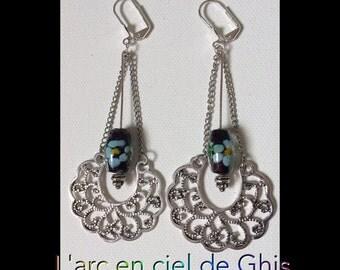 Earrings silver open hoop earrings