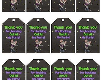 Instant Download|Chuck e Cheese|Thank You Tags|Favor Tags|Chuck E. Cheese|Chuck E. Cheese Birthday|Chuck E. Cheese Party|Chuck E Cheese Tags