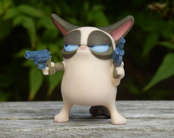 Grumpy Cat with Guns Ornament- Don't Get Grumpy... Get Even!