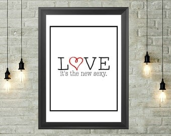Love Quote Printable 8x10, Instant Download