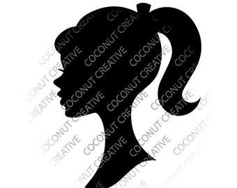 Barbie Silhouette svg dfx jpg jpeg eps layered cut cutting files cricut silhouette die cut decal vinyl