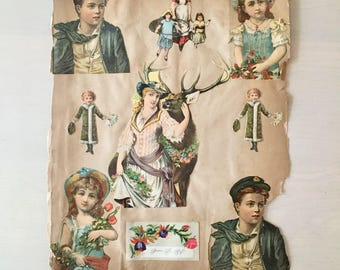 Victorian Era Scrapbook page - Die cuts