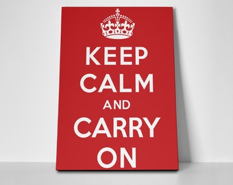 Keep Calm and Carry On Limited Edition 24x36 Poster | Keep Calm and Carry On Canvas