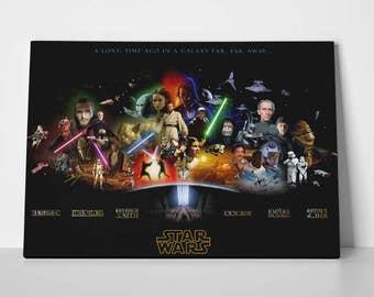 star wars canvas | etsy