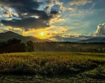 Sunrise in the Smoky Mountains
