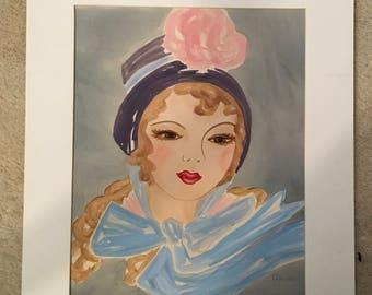 Vintage Original Watercolor Signed Garda