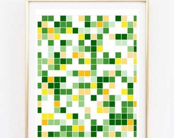 Green & Yellow Geo Print