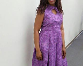 African dress.  African print. Ankara dress. African clothing.