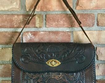 Vintage Joo-Kay Hand Tooled Leather Purse
