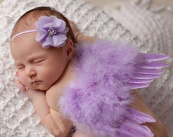 Newborn Angel Wings & Headband