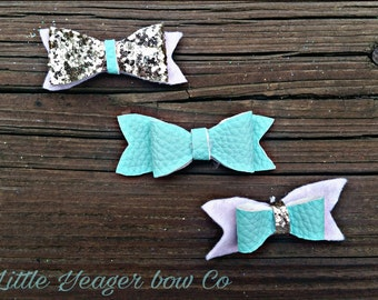 Felt Bows- Glitter - Black bows - Pink bows