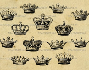 Digital SVG PNG JPG crown, royal crown, king, queen, princess, prince crown, vector, clipart, silhouette, instant download