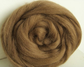 25g wool felting or spinning Merino carded to combed color Brown