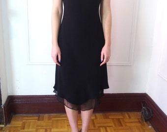 90'S JONES NEW YORK black slip dress Sz 4