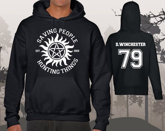 Supernatural Dean Winchester 79 Sam 83 Hoodie Unisex Men's Saving People Hunting Things
