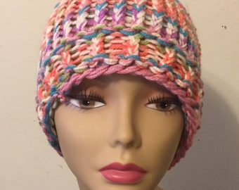 Sherbet Colored Sloppy Bun Hat