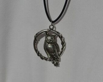 Circular Owl Pendant
