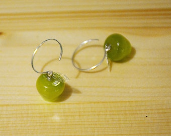 Chewable Apple earring