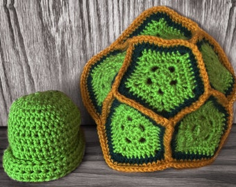Crochet turtle outfit