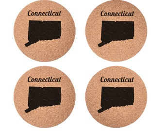 Connecticut Set 4pc Coaster Set Cork Home Bedroom Bar