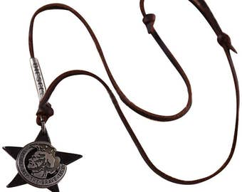 Greek Warrior Style Leather Necklace