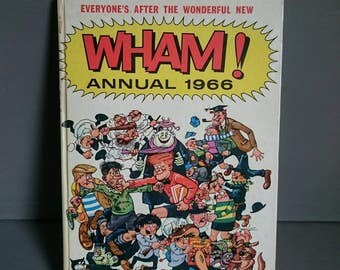 Wham Annual 1966 Vintage Children's Annual Unclipped