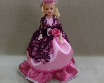 Barbie with surprize, 10inc doll ,Jewelery box, case for jewerly, doll with surprise