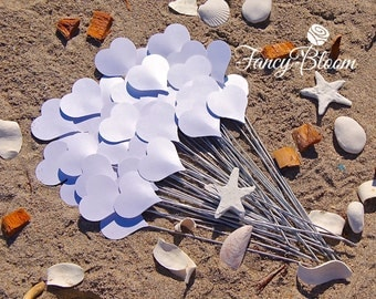 100 Hearts on a stick. Aisle Decor, Wedding Decorations, Beach Wedding, Heart Decoration, Wedding Aisle