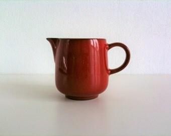 Beautiful red Creamer of Friesland, Ceracron, Melitta, 70s, vintage mid century