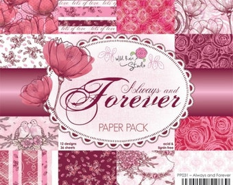 Always and Forever 6 x 6 paper pad