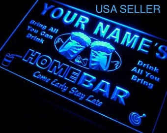 Personalized SIgn Custom Name Neon LED Decor For Home Bar Man Cave Business Home Bar