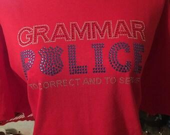 Rhinestone Grammar Police