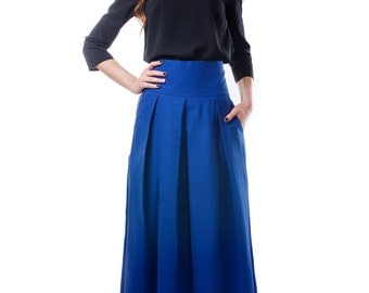 Bright Blue Skirt Casual For Any Occasion  Long Beautiful  Impressive skirt