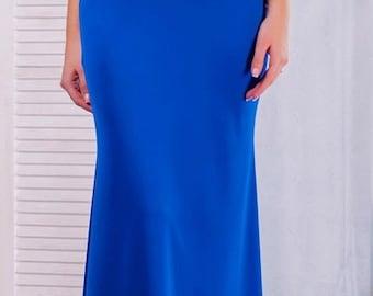 Divine bright  blue evening dress for the celebration. Fashionable dress.  Pretty dress.