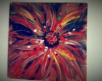 abstract painting ''Red flower''