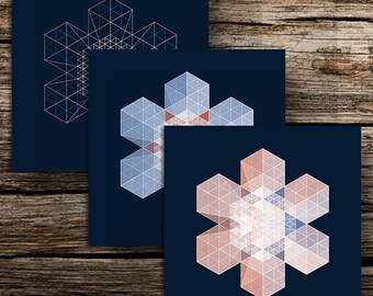 3 cards postcards snowflake winter - 3 snowflake winter postcards design design