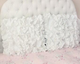 White Sweet Dream Multi Gathering Ruffle Layer Victorian Shabby Chic Cottage French Parisian Cotton Luxury Euro Sham