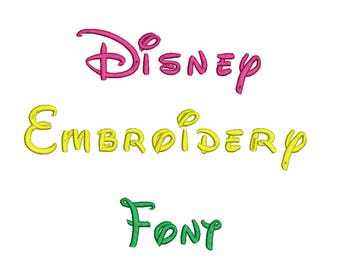 3 Sizes**Disney Embroidery Font Embroidery design- 8 formats machine embroidery design - Instant Download machine embroidery pattern
