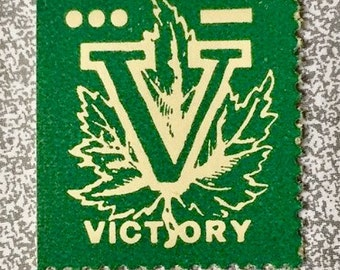 Poster/Cinderella Stamp: Green 'V' Stamp