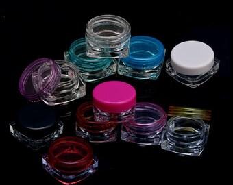 10 Pcs Multi Color Cosmetic Container